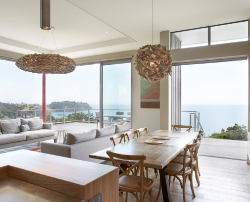 Beautiful clifftop home on Waiheke Island built by Premier Building Company Whelan Building