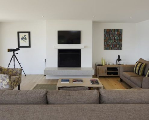 Living area of Whelan Building property on Waiheke Island