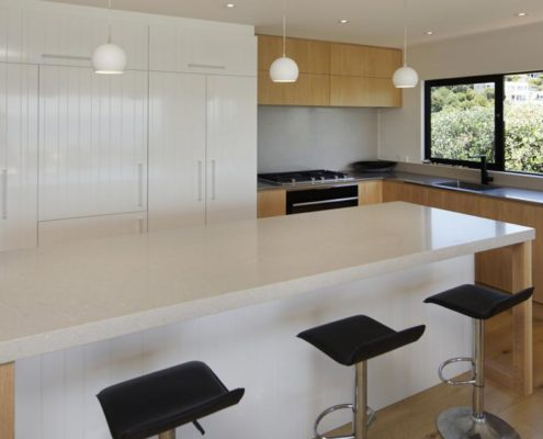 Kitchen in Whelan Building property on Waiheke Island