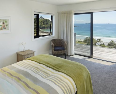 Bedroom of Whelan Building property on Waiheke Island